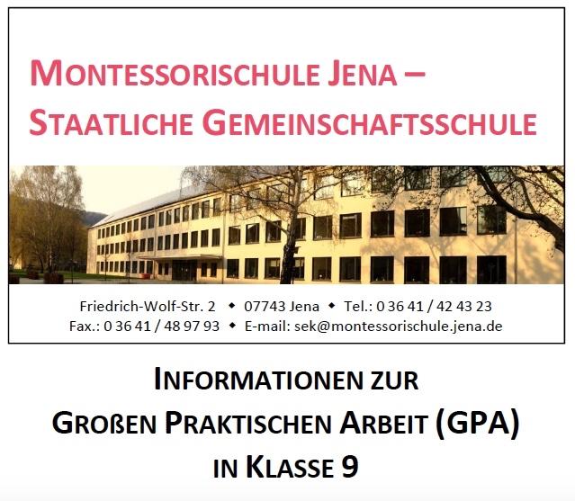 Informationen zur GPA Klasse 9