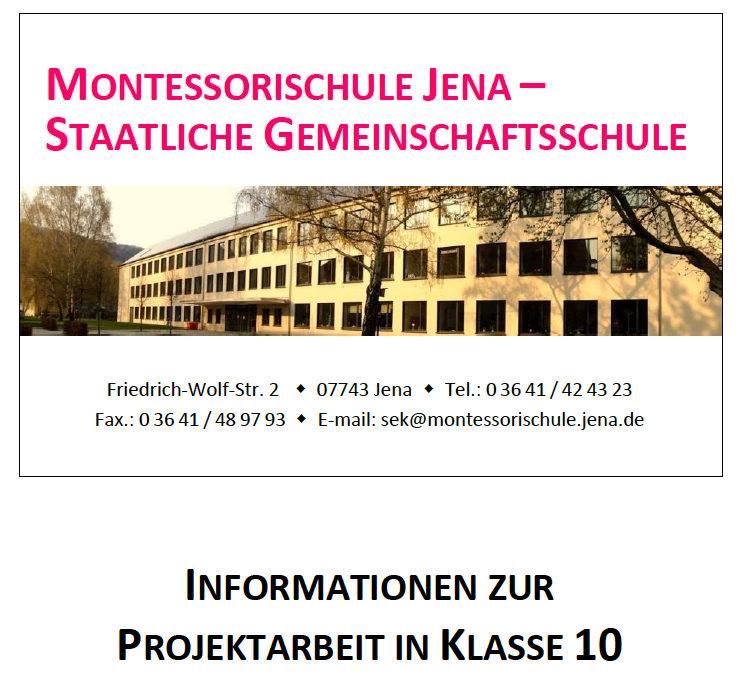 Informationen zur PA Klasse 10