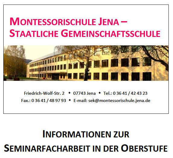 Informationen zur Seminarfacharbeit