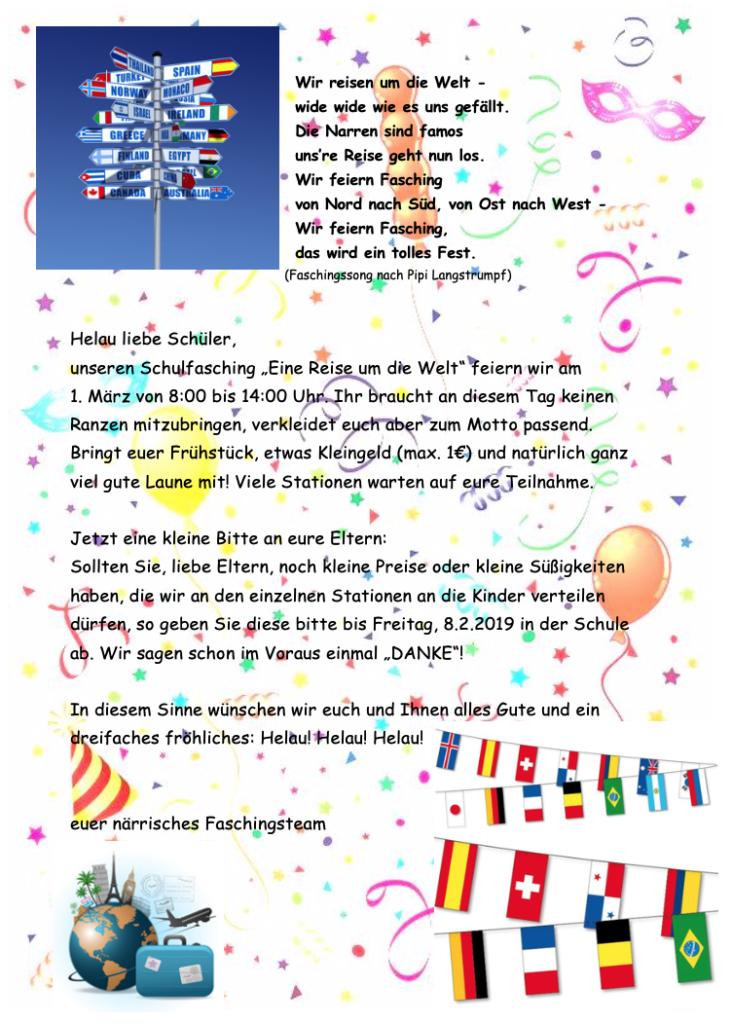 Fasching 2019 Montessorischule Jena