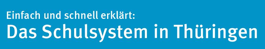 Das Schulsystem in Thüringen